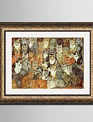 E-HOME® Framed Canvas Art, The Cat Framed Canvas Print