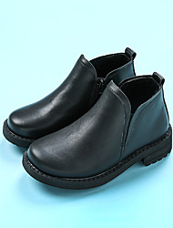 Men's Boots Comfort Leather Casual Black / Brown