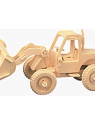 Puzzles Puzzles en bois Building Blocks DIY Toys Chariot élévateur 1 Bois Ivoire