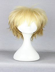 Popular America Style 30cm Short Curly Light Yellow  Cosplay Wig  Anime Noragami Yukine Costume Wig