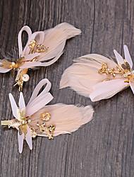 Mulheres Tule / Tecido Capacete-Casamento / Ocasião Especial / Casual / Ao ar Livre Clip para o Cabelo 1 Peça
