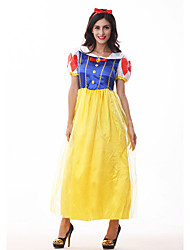 Cosplay Costumes Princess / Fairytale Movie Cosplay Blue Solid Dress / Headwear Halloween / Carnival Female Polyester