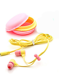 3.5mm Top Quality Birthday Gift Macaron Earphone Headphones Headset