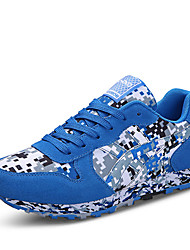 Men's Sneakers Spring / Summer / Fall / Winter Mary Jane / Fabric Casual Split Joint / Lace-up Blue / Green