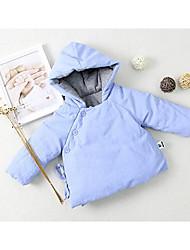 малыш Блуза-На каждый день,Однотонный,Хлопок,Зима-Синий