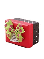 Note Three Packaged For Sale  Size 9.5*7*6CM Rectangular Wave Red Festive Wedding Like Candy Jewelry Gift Paper Gift Box
