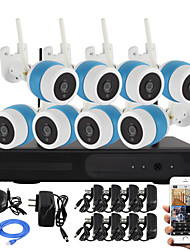 YanSe 8CH Wireless 1.3MP IR Camera NVR Kit WiFi IP Camera Metal IP66 Waterproof Network NVR CCTV System 960P HDMI P2P