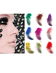 12PCS Nail Art Sticker Pearl Feather Diecut Manicure Stencil Makeup Cosmetic Nail Art Design