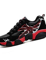 Men's Sneakers Spring / Fall Comfort PU Casual Flat Heel Black / Blue / Yellow / Green / Red Sneaker