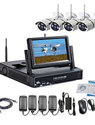 Strongshine® Wireless IP Camera with 960P/Infrared/Waterproof and NVR with 7Inch LCD Combo Kits