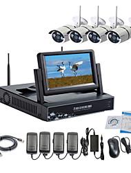 strongshine® drahtlose IP-Kamera mit 960p Infrarot-wasserdicht und NVR mit 7-Zoll-LCD-Combo-Kits