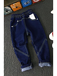 Boy's Casual/Daily Solid Pants / JeansCotton Spring / Fall Blue