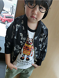 Boy's Casual/Daily Floral Jacket & CoatCotton Spring / Fall Black