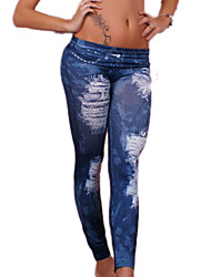 Women Solid Color / Print / Shredded / Denim LeggingPolyester/hot sale/brand fashion/high quality