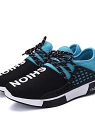 Черный Синий Красный-Мужской-Повседневный-Ткань-На плоской подошве-Удобная обувь-Спортивная обувь