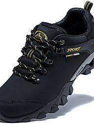 Femme-Extérieure / Décontracté-Noir / GrisConfort-Chaussures d'Athlétisme-Cuir