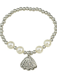 Fashion Silver Color Imitation Pearl Chain Bracelet