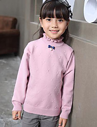 Girl's Casual/Daily Solid ShirtWool Winter / Spring / Fall Blue / Pink