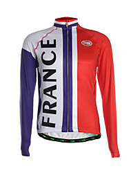 Sports Cycling Jersey Men's Long Sleeve Breathable / Thermal / Back Pocket / Ultra Light Fabric Bike Jersey