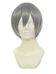 jeune alliance azuma Kouichi mixte grise courte perruque cosplay droite