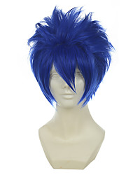 vocaloid kaito mistogai azul versátil imponente curta o dia das bruxas perucas perucas traje perucas sintéticas
