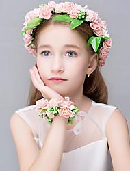 Women's Polyester Foam Organza Resin Headpiece-Wedding Special Occasion Casual Office & Career OutdoorTiaras Headbands Flowers Wreaths