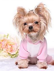 Hund T-shirt Pullover Hundekleidung Niedlich Lässig/Alltäglich Farbblock Rosa Hellblau