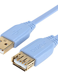 CHOSEAL USB2.0A/M-A/F Cable High Speed Gold Plated