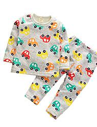 Boy's Casual/Daily Print Clothing Set / SleepwearCotton Spring / Fall Gray