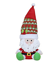 Christmas Decorations / Christmas Toys Holiday Supplies 3Pcs Christmas Textile White / Yellow / Red