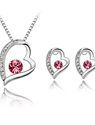 Thousands of colors Jewelry Necklaces / Earrings Jewelry set Crystal  1set Women -9-1-1-1172-067