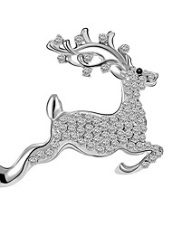Christmas Gift Trade Deer Brooch Diamond Brooch