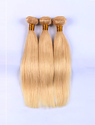 10-24inch Human Hair Weaves #613 Silk Straight Human Hair Weaves Indian Virgin Hair Weaves