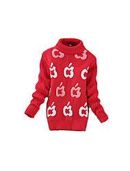 Girl's Casual/Daily Geometric Sweater & CardiganWool Winter Black / Green / Red / Yellow / Gray