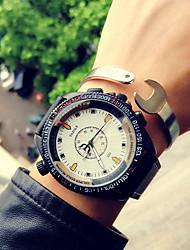 Mulheres Unissex Relógio Esportivo Relógio de Moda Relógio de Pulso Quartzo Resistente ao Choque Punk Colorido Couro BandaVintage Legal
