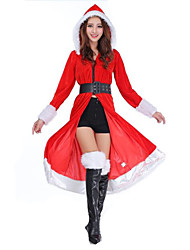 Women's Santa Sexy Christmas Long Dress Outfit With Hat