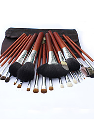 26 Makeup Brushes Set Goat Hair Professional / Portable Wood Handle Face/Eye/Lip