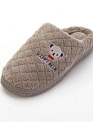 Men's Slippers & Flip-Flops Fashion Indoor Cotton Slippers Comfort Fur Casual Flat Heel Slip-on Gray / Coffee Walking