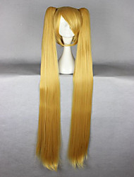 Vocaloid Akita Neru Famous Animation  Long Straight Synthetic Braided Blonde Cosplay Wig