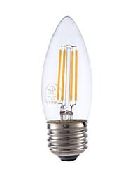 3.5 E26/E27 Ampoules à Filament LED B 4 COB 350 lm Blanc Chaud Gradable V 1 pièce