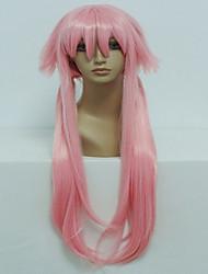anime gasai yuno 80 cm de comprimento rosa claro cosplay peruca halloween peruca traje reto