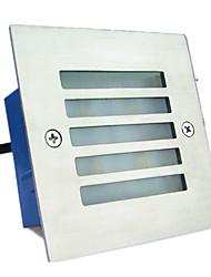 quadrado lâmpada enterrado (3W branco quente)