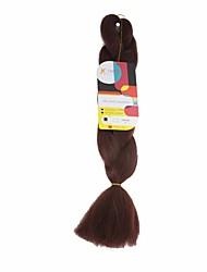 Others Jumbo Haarverlängerungen 18Inch Kanekalon Recommended Buy 4 Packs Full Head Strand 115g Gramm Haar Borten