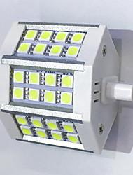 R7S 78mm 24x 5050SMD 6W Warm White / Cool White 600LM 220Beam Horizontal Plug Lights  Flood Light AC85-265V
