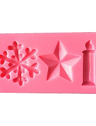 Christmas Candle  Silicone Cake Mold  SM-502