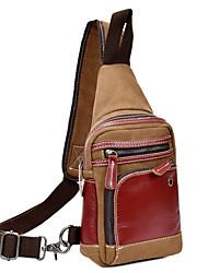 New Men Women Shoulder Bag Handbag Leather Canvas