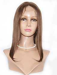 Peruvian Hair Short  Length Straight Human Hair  Lace Front Human Hair Wigs For Woman