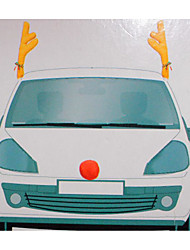 Car Decoration Christmas Antlers Car Antlers 44*14CM