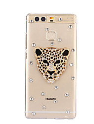 DIY Gold Leopard Pattern PC Hard Case for Huawei P9 Plus LITE P8 LITE Honor 8 7 6 6Plus 5C 5X 4X 4C 4A Mate 9 8 7