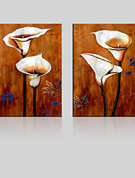 JAMMORY Unframed Canvas Print Landscape / Floral/Botanical Modern Two Panels Canvas Square Print Wall Decor For Home